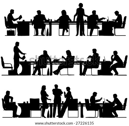 Office Silhouette Stock Images Royalty Free Images