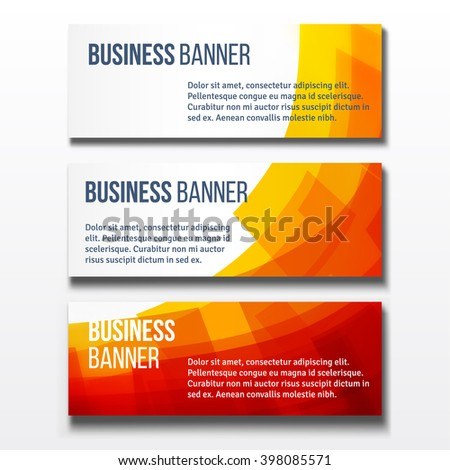 Set of three horizontal business banners templates - stock vector