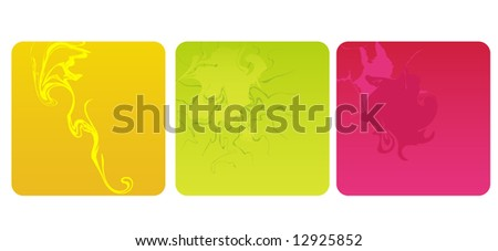 Set of three original abstract vector illustration designs - stock vector