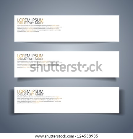 Set of three vector stickers for your text - vector - stock vector