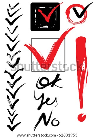 set of ticks, daw - stock vector