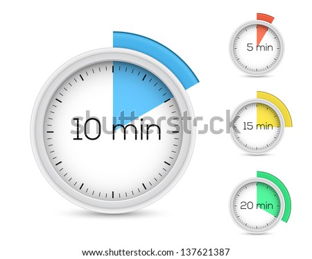 set timers 5 10 15 20 stock vector 137621387 shutterstock. Black Bedroom Furniture Sets. Home Design Ideas