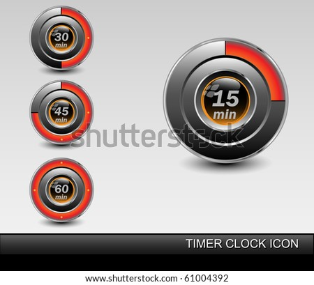 Set of timers. Vector - stock vector