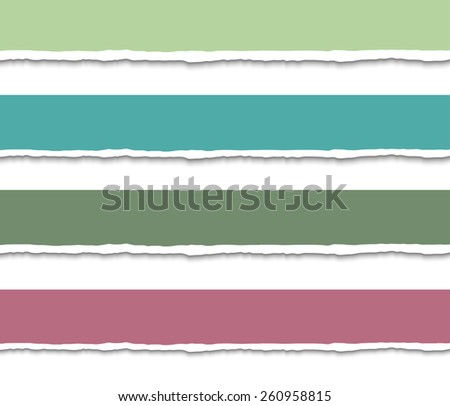 Set of 4 Torn paper pieces banners. Vector EPS10 illustration. Design elements - paper with ripped edges - stock vector