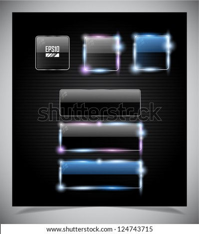 Set of transparent buttons for web. Vector illustration. - stock vector