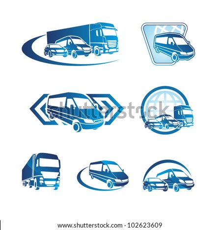 Set of transport icons - stock vector