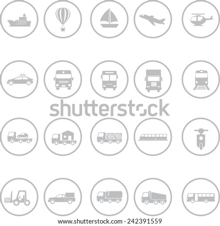 Set of transportation icons - stock vector