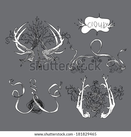 Design tattoo wreath stock photos images pictures for Gothic design elements