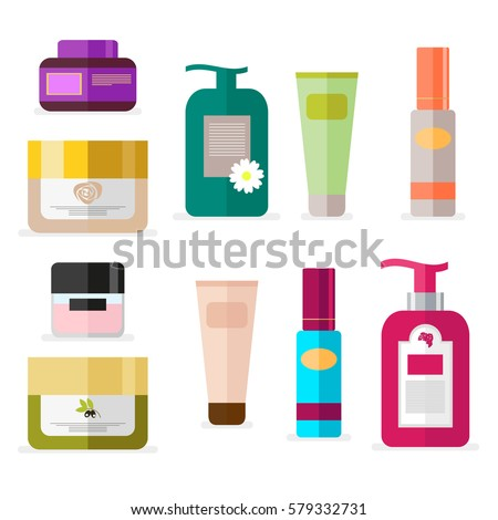 Tools For Beauty And Skin Care Vector