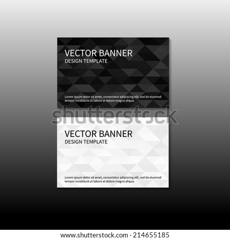 Set of two business cards geometric design template. Vector banner design template. Corporate style design template. Vector illustration EPS10 - stock vector