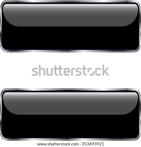 set of two buttons for website, vector illustration