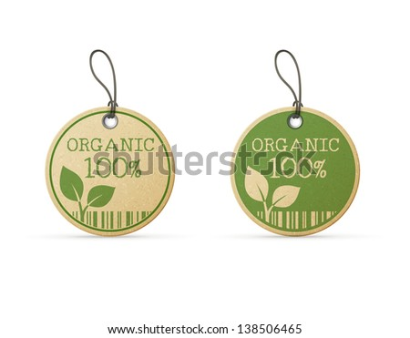 set of two eco labels eps10 - stock vector