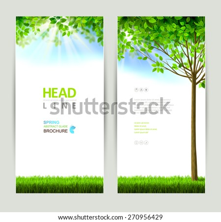 set of two natures banners - stock vector