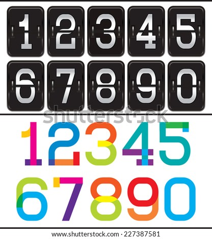 set of two sets of numbers for advertising and web design - stock vector