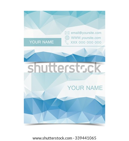 Set of two sided business cards designs - stock vector