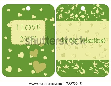 Set of two St Valentine's Day cards
