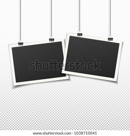 Set Two Vintage Photo Frames Vintage Vector de stock1038710041 ...