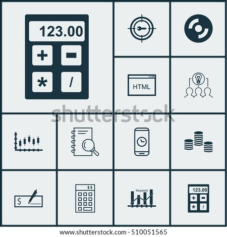 Set Of 12 Universal Editable Icons. Can Be Used For Web, Mobile And App Design. Includes Icons Such As Investment, Blank Cd, Bank Payment And More.