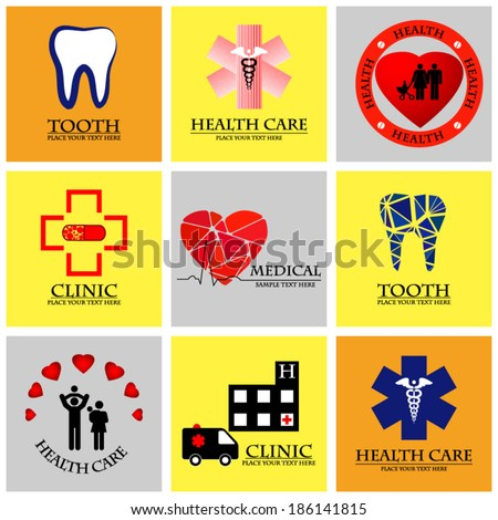 Set of unusual medical icons - stock vector