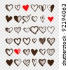 Set of valentine hearts for your design - stock vector