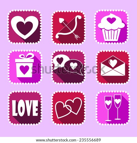 Children Educational Game Coloring Page Valentines Stock ...