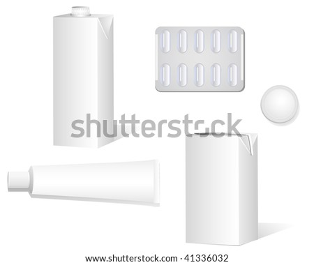 Set of various corporate objects. Can be used as templates or stationaries. Linear and radial gradients. - stock vector