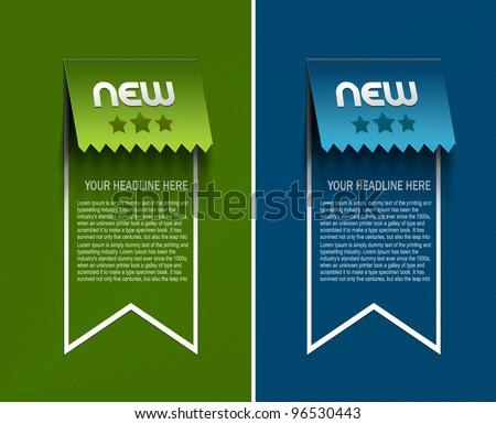Set of Various design elements for web or blog templates - stock vector