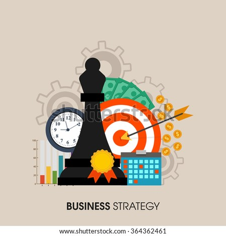 Set of various infographic elements for Business Strategy concept. - stock vector