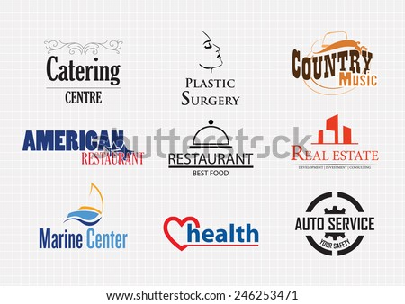 Set of various logo graphics - stock vector