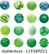 Set of vector abstract globe - stock vector