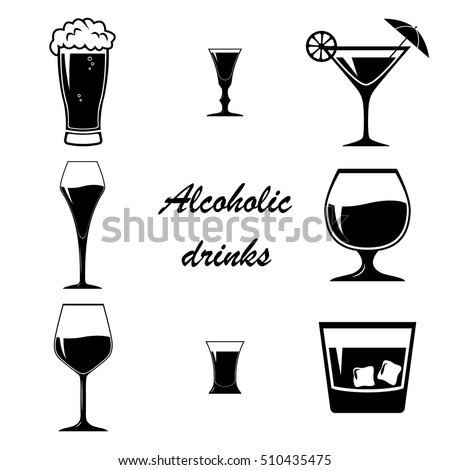 alcoholic drinks stock images  royalty free images   vectors shutterstock Elegant Shot Glass Clip Art Shot Glass Silhouette Clip Art