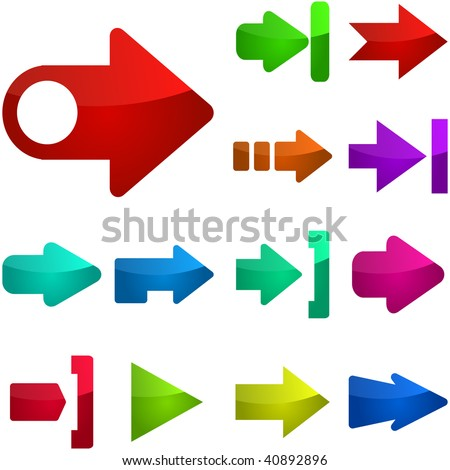 Set of vector arrows. Vector collection for design.