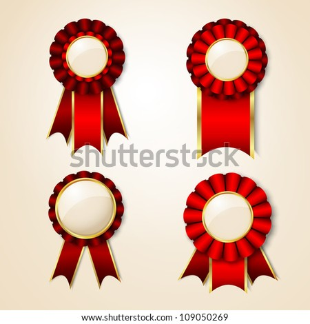 Set of vector badges with place for text - stock vector