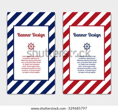 Set vector banners template nautical marine stock vector 329685797 set of vector banners template with nautical marine style design invitation card celebration maxwellsz