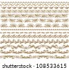 Set of vector borders,  decorative elements for design. Page decoration. - stock photo
