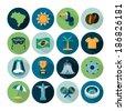 set of vector Brazil icons - stock