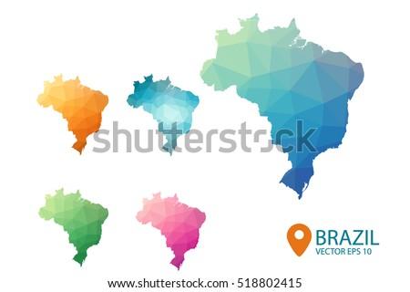Brazil Map Stock Images RoyaltyFree Images Vectors Shutterstock - Brazil map illustration