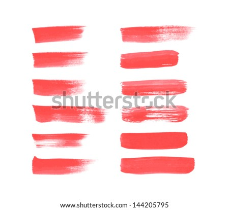 Set of vector brush strokes hand painted / watercolor stains collection. Grunge style - stock vector