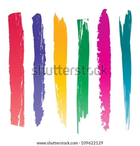 Set of Vector Brushes - stock vector
