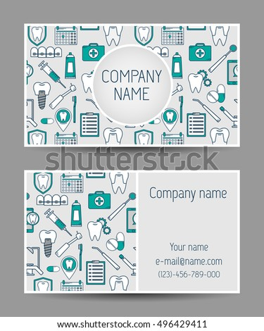 Set vector business card templates dental stock vector hd royalty set of vector business card templates dental clinic dental modern business card reheart Gallery