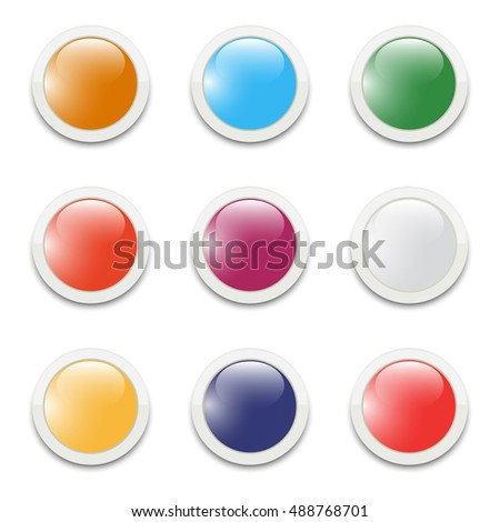 Set of vector buttons for web design
