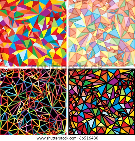 Set of Vector Chaotic Mosaic - stock vector