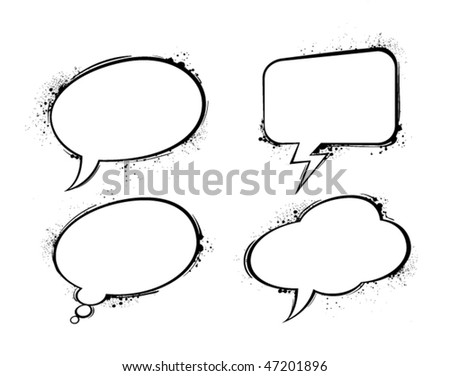 Set of vector chat bubbles.