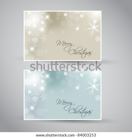 Set of vector christmas / New Year banners 2012 (blue and golden) - stock vector