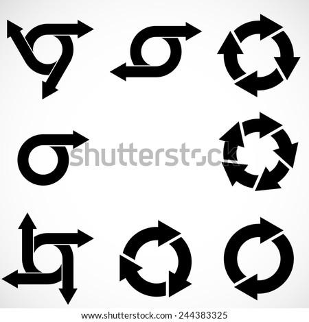 Set of Vector Circular Arrows . Circle Arrows Collection .  - stock vector