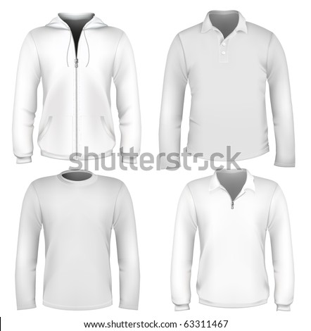 Set of vector clothes design template. - stock vector