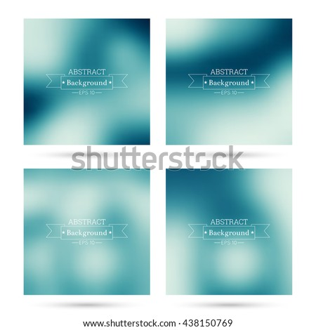 Set of vector colorful abstract backgrounds blurred. For mobile app, book cover, booklet, background, poster,  backdrop, wallpaper, annual reports. purple, blue, violet - stock vector