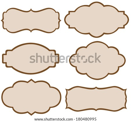 Set of vector decorative labels - stock vector