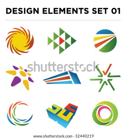 Set of vector design elements [01] - stock vector