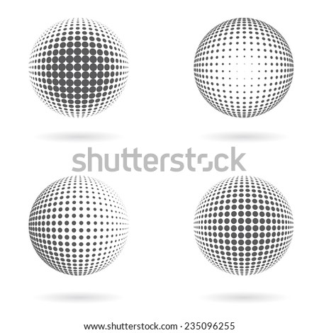 Set of vector dotted spheres